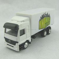 Model truck with free wheel,die cast scale truck