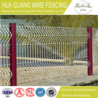 Wire mesh fence with pvc coated and galvanized