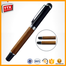 Eco friendly wooden pen sets with keychian and wooden ball pen