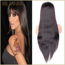 China Supplier Have Free Wig Catalogs Elastic Band Brazilian Hair Glueless Full Lace Wig With Baby Hair