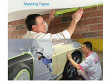 high temperature resistance masking painting tape with sharp line and no adhesive leak