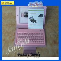 For iPad Mini Bluetooth Keyboard with Folding PU Leather Case