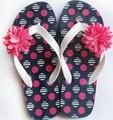 única correa de PVC flip flop puntos de la muchacha / de las sandalias de goma