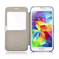 View Window Ultra Thin PU case for Samsung Galaxy S5
