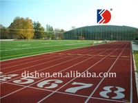Rubberize running track surfacing materials