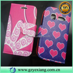 Design Skin Leather Mobile Phone Case For Alcatel One Touch Pop C1 Wallet