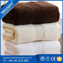 wholesale pure white plain dyed custom China 5 star hotel Top grade 100% cotton hotel towel