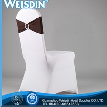 arm manufacter 100% polyester wedding spandex chair cover and organza sash