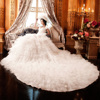 Wedding Dress Organza Ruffled Skirt Bridal Wedding Dress