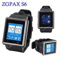 3G Android 4.0 SmartWatch ZGPAX S6 1.54 Inch Smart Watch Phone Smartphone With MTK6577 Dual Core 2.0MP Camera Wifi WCDMA GSM GPS