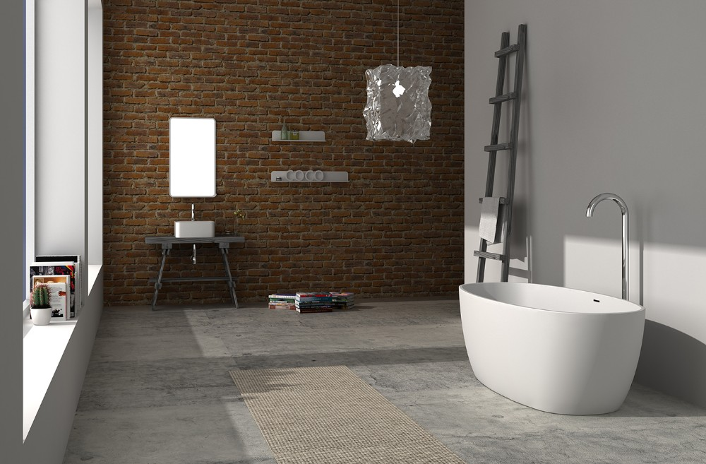 Solid Surface Bathtub Wd65126 - Buy Freestanding Stone Bathtub,Solid ...