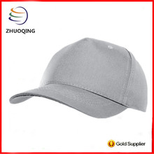 wholesale gray 5 panel blank fitted baseball cap