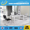 dining room furniture glass 8 seater white dining table #A2122L00-M3