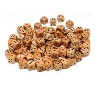 wooden dice black dots custom wooden dice 16mm