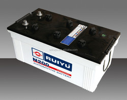 12v200AH dry charged battery for starting