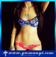 Factory price fashion design punk sexy indian body chain jewelry