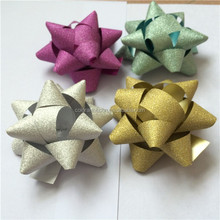 Fashional Glitter Christmas Star Bows for wholesale