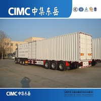 CIMC Factory Tri Axle Widely Used Transportation Box Truck Trailer