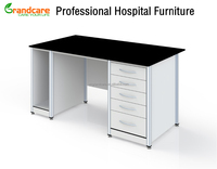 Hospital Lab Computer Table Made Of Chemical Resistant Resin Laminate And Aluminum Alloy Frame Accept Customized Sizes