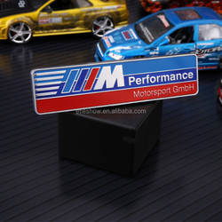 Professional Customized Made Car Accessories M Performance ABS Vinyl Metal Logo Sticker