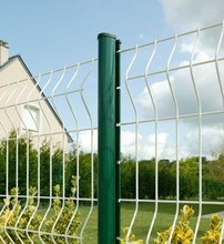 Q235 low carbon steel wire mesh fence peach shape post fence used for garden and villa