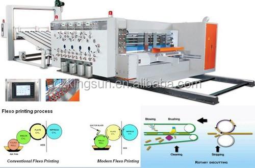 YKM1224 Auto printing slotter die cutter/Corrugated carton machine/Die cutting machine for paperboard