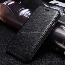 """Genuine leather litchi flip phone cover case for apple iPhone 6 4.7"""""""