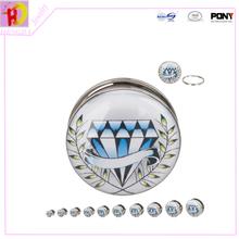2014 lasted 316L surgical steel diamond ear plug ear tunnel body piercing jewelry