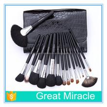 26pcs per set wooden handle animals hair eye shadow and lip stick professional makeup brush