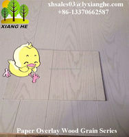 Wood Grain Paper PVC Overlay Plywood/MDF