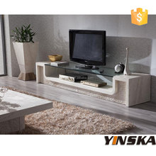 luxury furniture design living room glass tv table stand