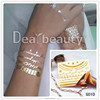 2015 Dearbeauty Fashion Design Body Temporary Tattoo Stickers Golden Silver and Black