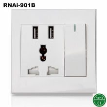 Wall socket USB outlets Power Type and Self Grounding Grounding usb electrical outlets