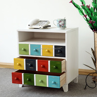 colorful bedside table multifunctional chest of drawers