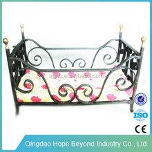 Home bedroom furniture chinese platform beds metal doll bed