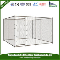 China wholesale portable Budget Dog Runs / Kennel with Locking Gate Latch / chain link dog runs (factory)