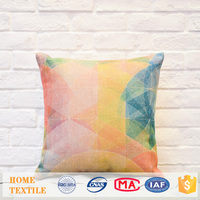Houseware Creative Colorful Pattern Printed Custom Pillow Case Sofa Cushions Covers Sublimation Case