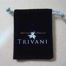 High quality velvet gift jewelry bag pouch india,black velvet gift bags pouch