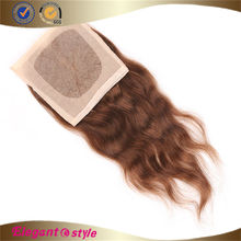 Wholesale high quality 3 part silk base lace closure. 100% human hair lace closure