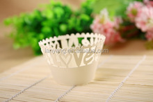 Clear Love Laser Cut Paper Cupcake Wrapper Wholesale Alibaba(CZ-008)
