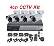 Security cctv camera kit & H.264 DVR 4CH Security 1000tvl CCTV Camera System