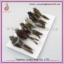Taizhou Luckyarts High Quality Natural Feather Sparrow Bird Ornaments