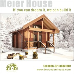 Small beautiful double storeys vacation timber cottage DY-E-700