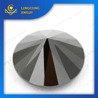 factory price good polishing high quality cz material synthetic black diamonds