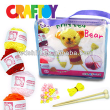 Children crafts Do it yourself knitting doll Bear kit