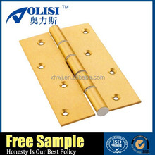2015 Professional power coated golden color aluminium hinges for sale