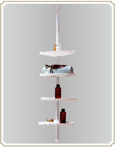 t lescopique en acier inoxydable salle de bains tag re d 39 angle etag re de salle de bain id de. Black Bedroom Furniture Sets. Home Design Ideas