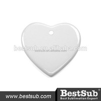 3'' Heart Chinese Christmas Sublimation Blank Ceramic Ornament With Hole (H001)