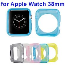 Smart Watch Accessories Transparent Clear Soft TPU Case Cover for Apple Watch