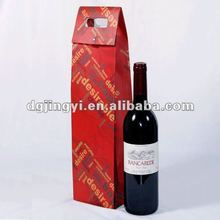 Kraft paper wine bag for one bottle